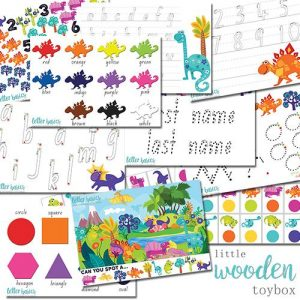 Letter Basics Dinosaur pack for 4 year olds