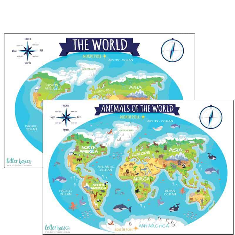 Letter Basics The World Activity Mat