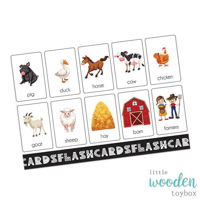 Farm Flash Cards