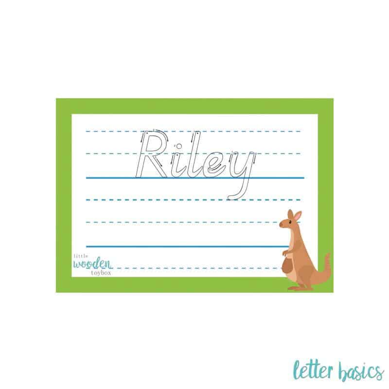 Letter Basics Personalised Name