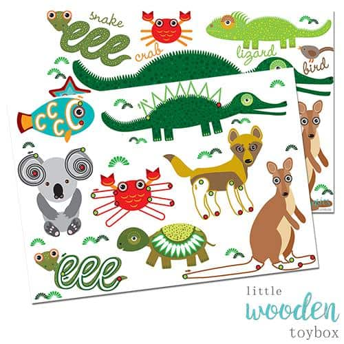 Letter Basics Aussie Animal Pre Writing