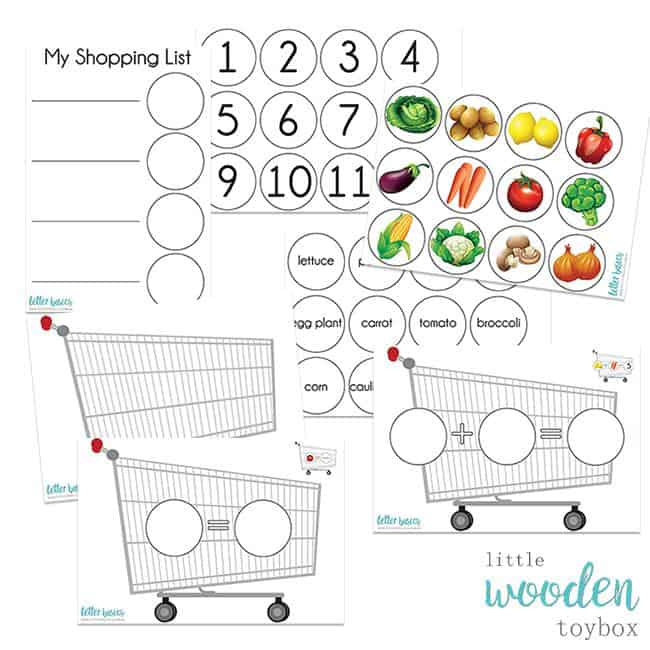 Letter Basics Shopping Trolley Activity
