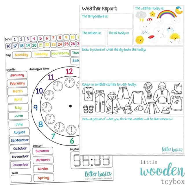 Letter Basics Weather Report