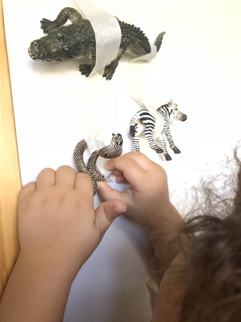 Tape Rescue for Toddlers Fine Motor Skills