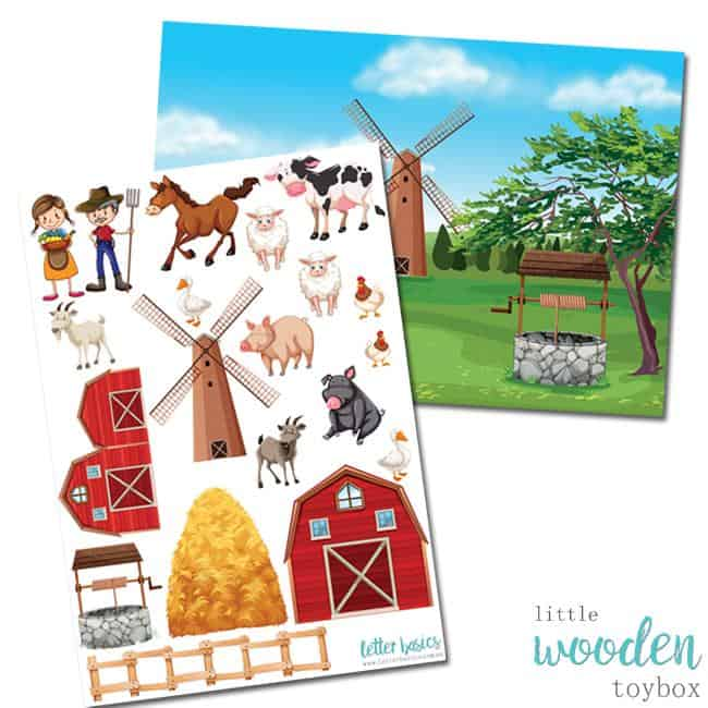 Letter Basics Farm Yard Story Board