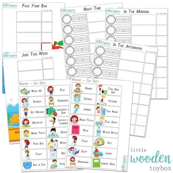 Chore and routine charts for children
